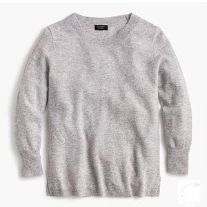 NWOT J. Crew Cashmere Gray Sweater